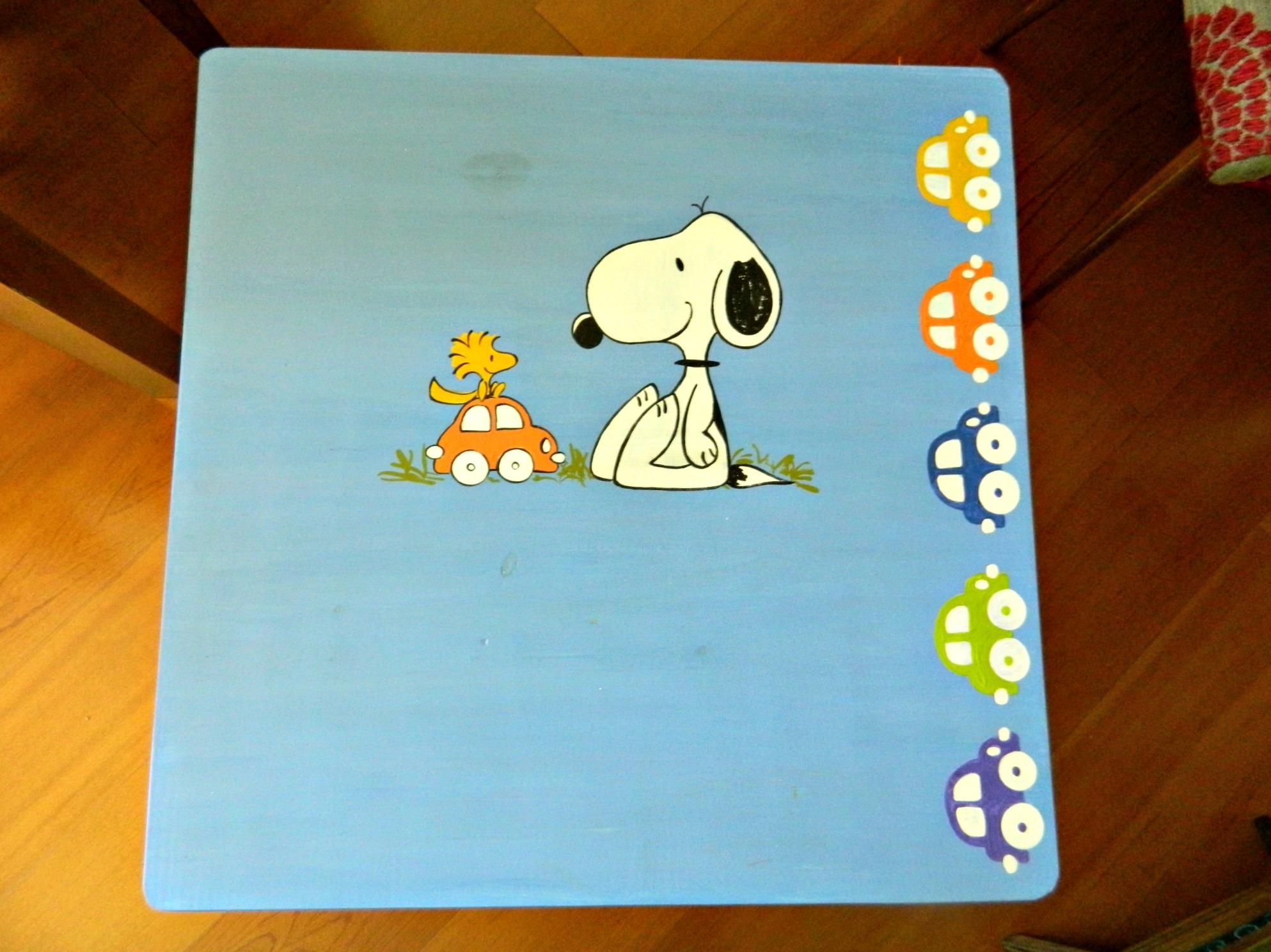 E o detalhe do Snoopy escondido no pé da mesa… ec57b7b56dc